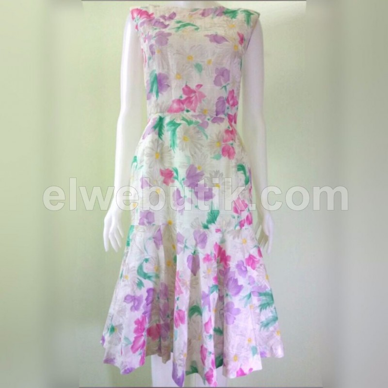 Floral mermaid Japan dress